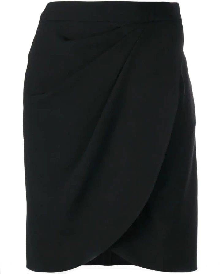 Ruched fitted mini skirt