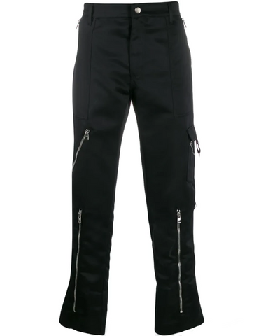 Multiple zips trousers