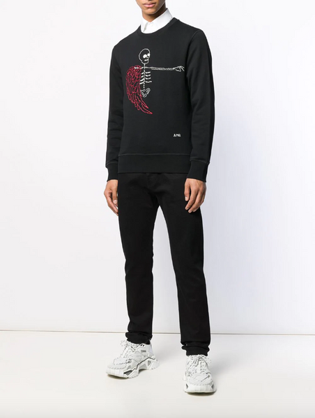 Embroidered skeleton sweatshirt