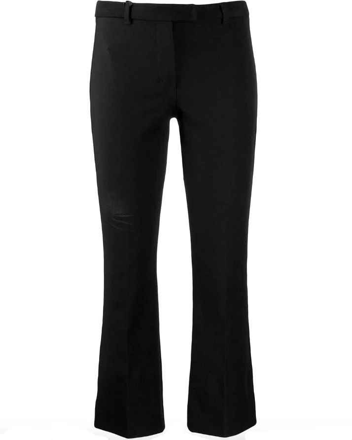 Cropped flare trousers