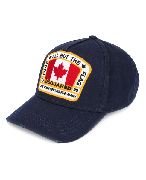 Dsquared2 canadian patch baseball blue cap