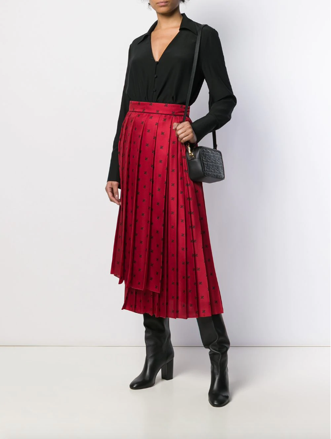 FF Karligraphy pleated skirt