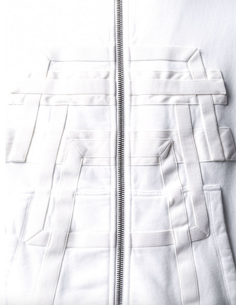 Rick Owens DRKSHDW Geometric trim zipped jacket