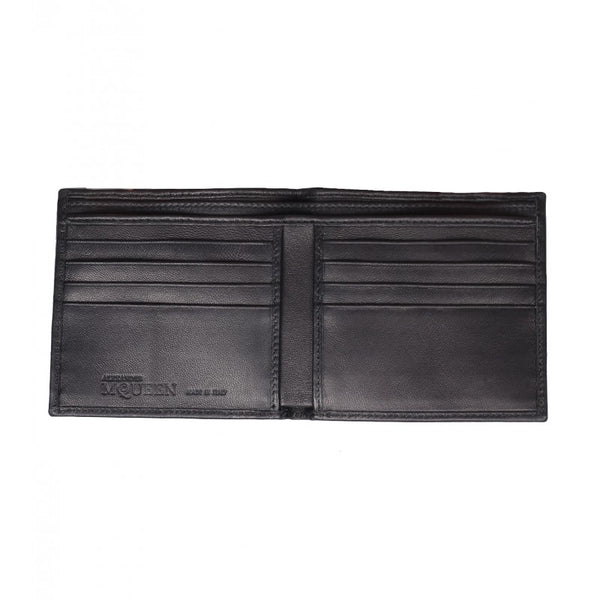 Black Coated-canvas skull billfold wallet