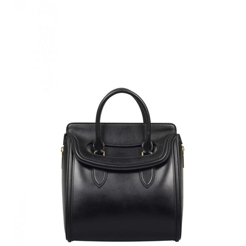 Black leather 'Heroine' tote bag