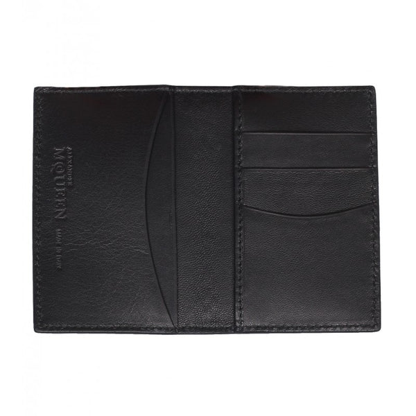 Black leather fold pocket organiser