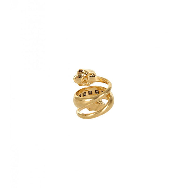 Gold-tone spiral ring