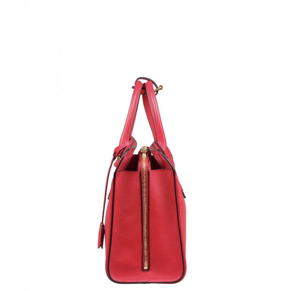 Red leather Heroine tote bag