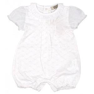 White cotton baby girls shortie