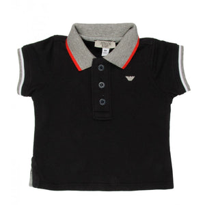 Armani Junior navy short sleeved polo shirt - Profile Fashion