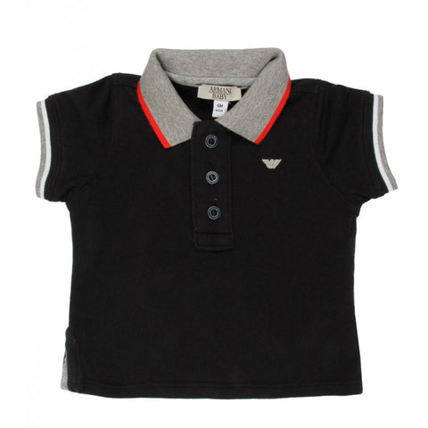 Armani Junior navy short sleeved polo shirt