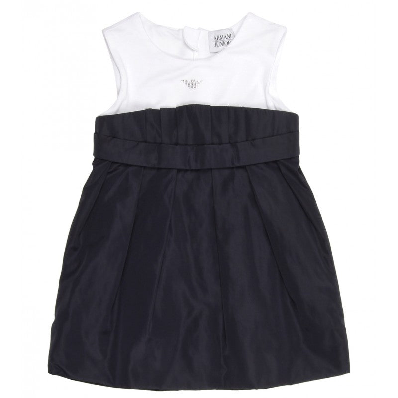 Armani Junior sleeveless round neck dress - Profile Fashion