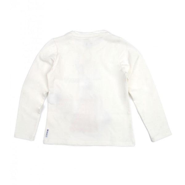 Off-white cotton jersey stretch long sleeved Armani Junior top
