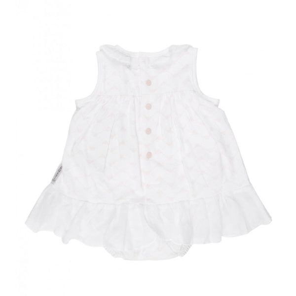 Armani Junior baby's sleeveless short coverall with popper button fastening - Profile Fashion