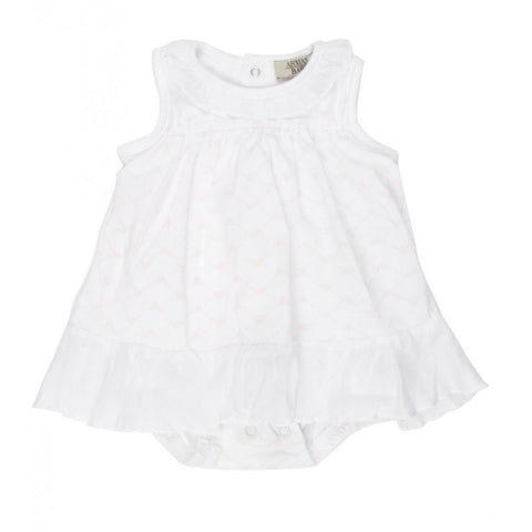 Armani Junior baby's sleeveless short coverall with popper button fastening