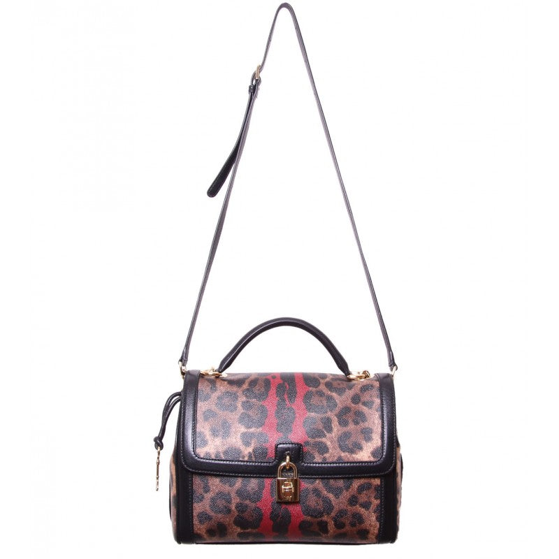 Leopard print textured tote bag
