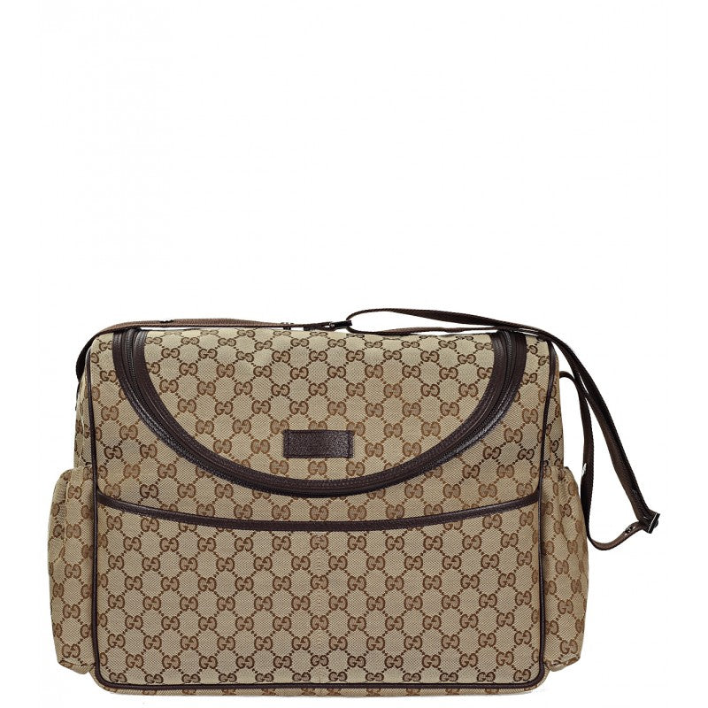 c449b0d9da5 Gucci   ebony GG canvas fabric baby changing bag - Profile Fashion
