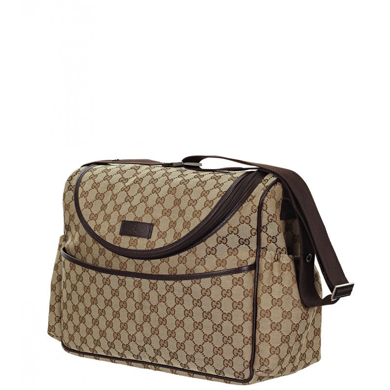 5e14cccac4193b ... changing bag; Gucci & ebony GG canvas fabric baby changing ...