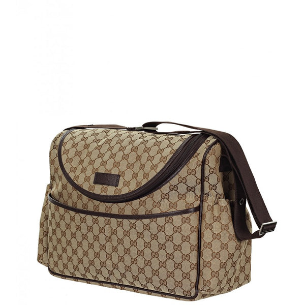 Gucci & ebony GG canvas fabric baby changing bag