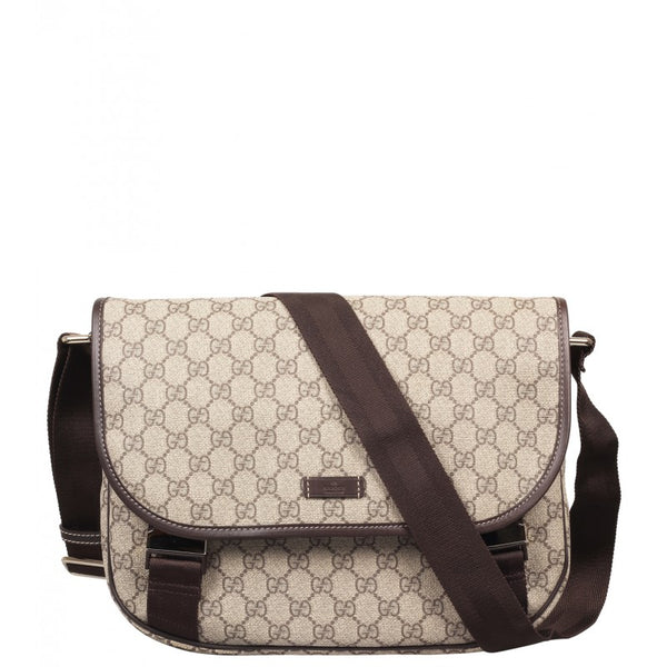 Beige & ebony GG Supreme canvas medium messenger bag