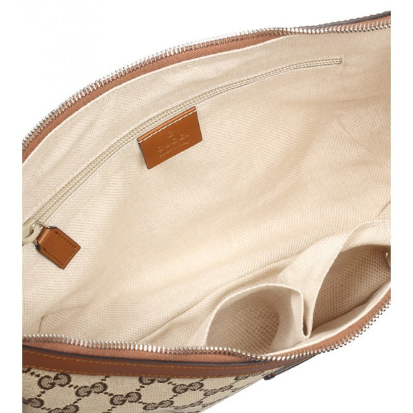 Beige & ebony original GG canvas messenger bag