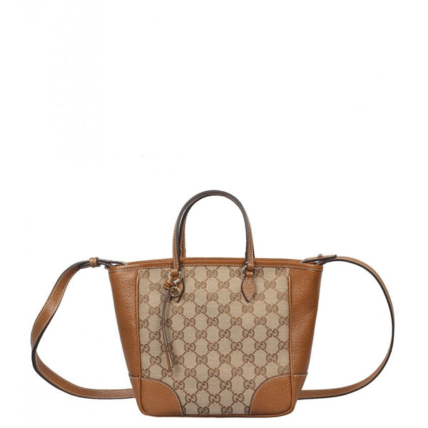Beige & nut brown original GG canvas Bree tote bag