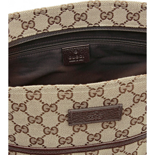 Beige GG Supreme large messenger bag - Profile Fashion