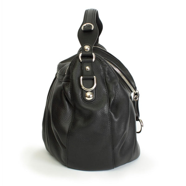 Black leather cellarius bag