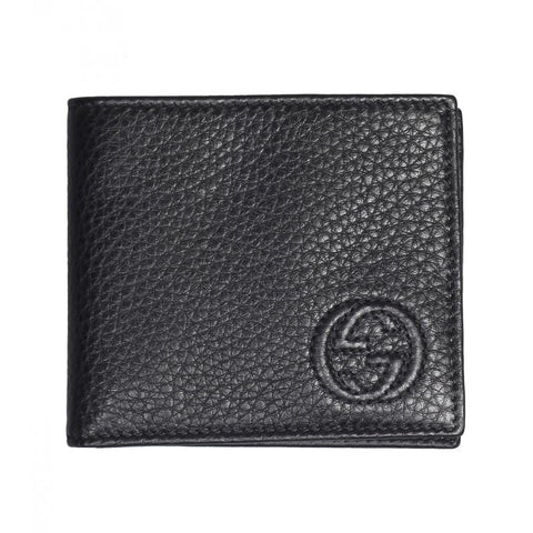 Black leather soho bi-Fold wallet