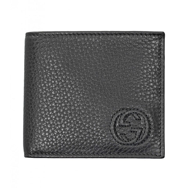 Black leather soho coin wallet
