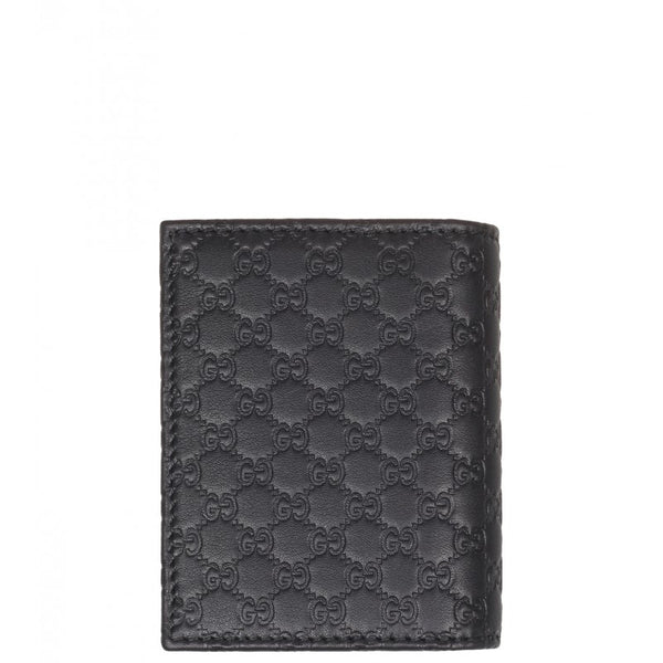 Black Microguccissima leather card case