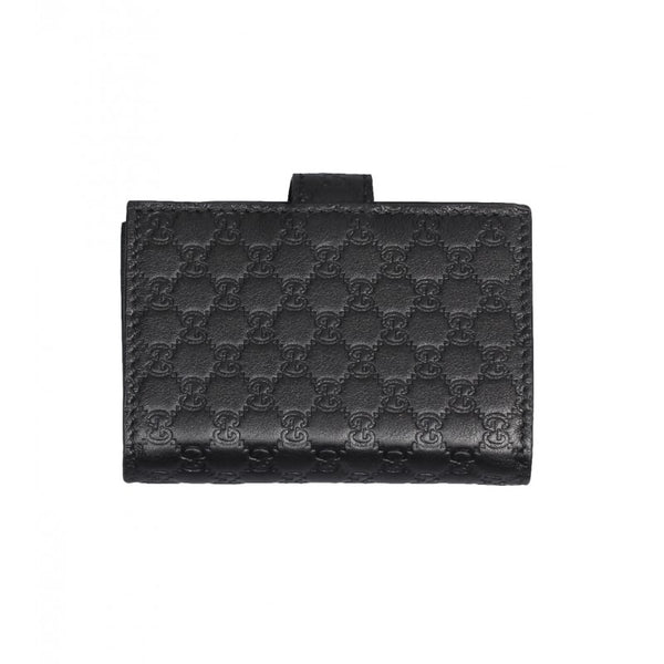 Black Microguccissima leather card holder