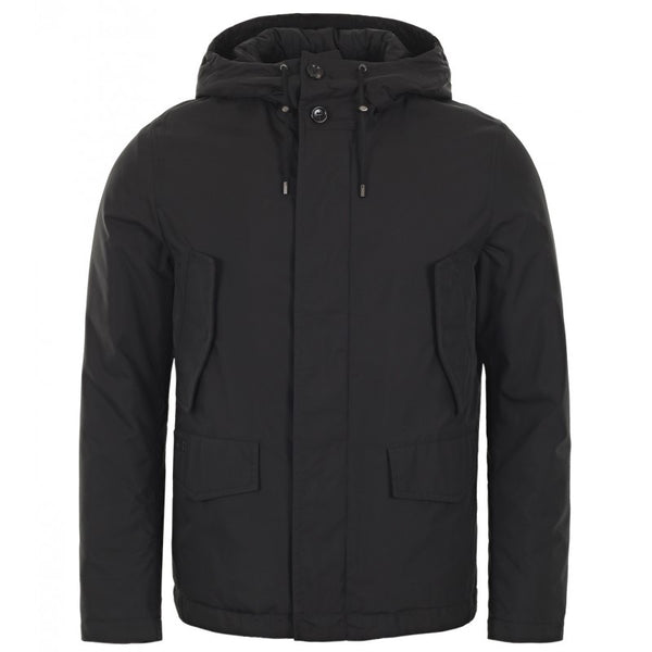Black nylon double layer jacket