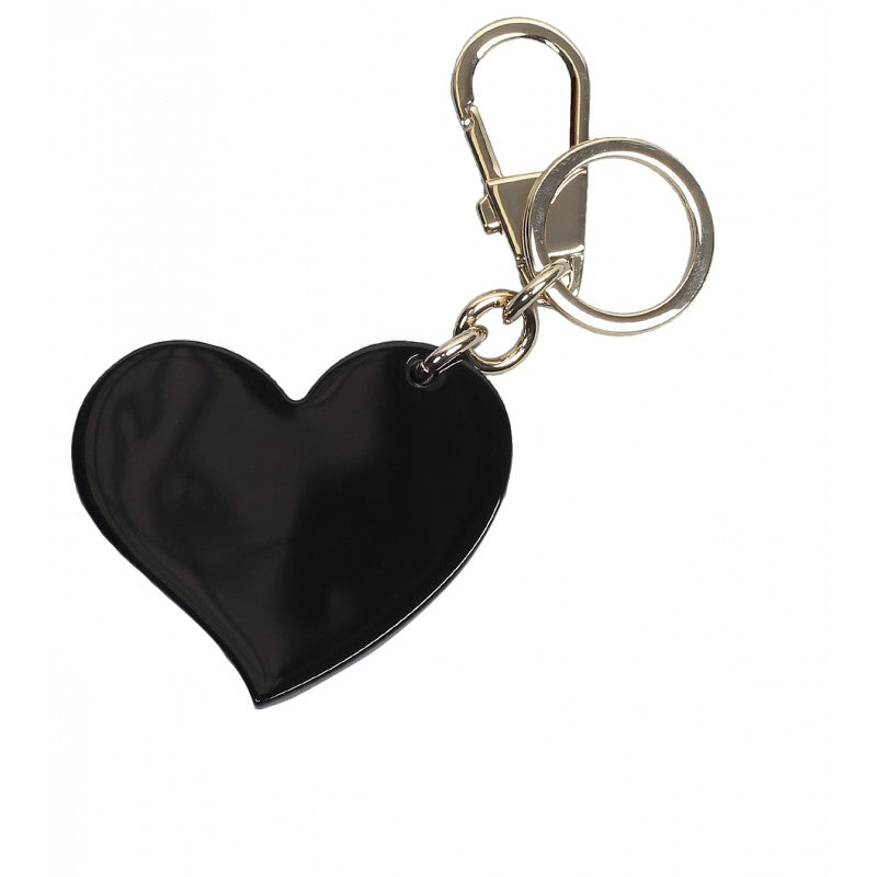 10f9df856 Black plexiglass heart key ring charm - Profile Fashion