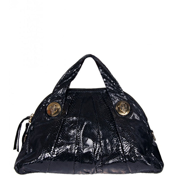 Black python leather 'Hysteria' handbag