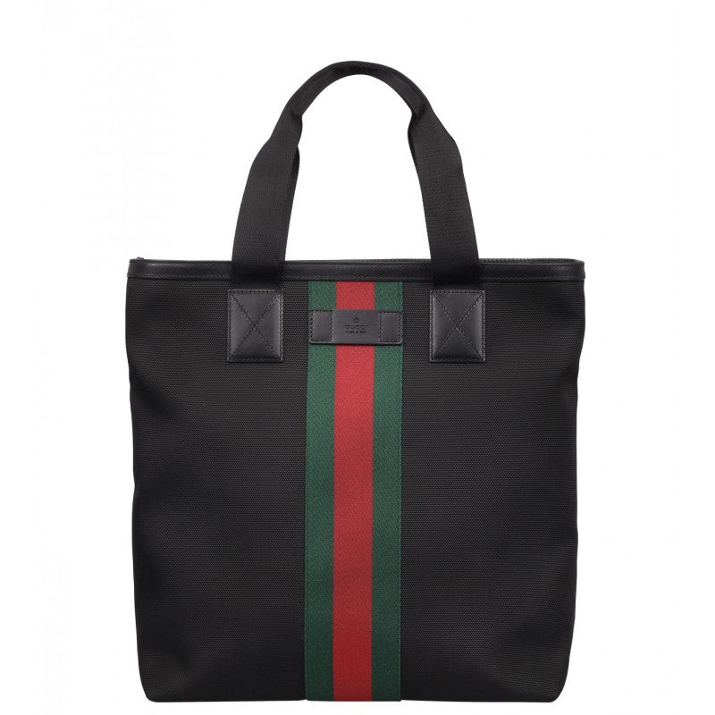 Black Web Band canvas tote bag