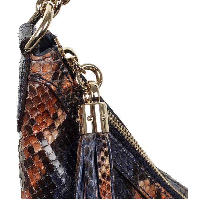 Blue & sienna Soho python shoulder bag