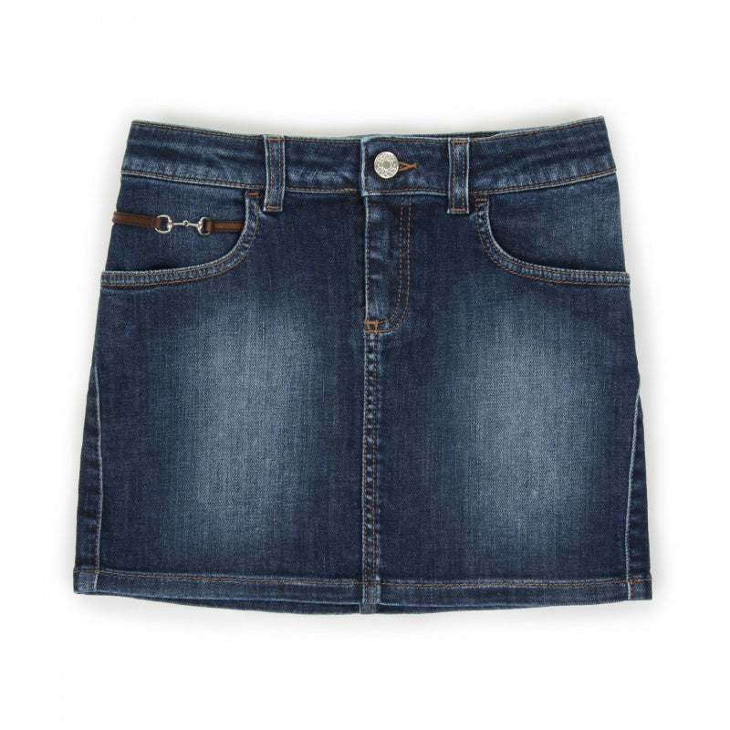 Blue cotton denim skirt