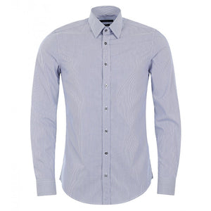 Blue cotton striped classic shirt
