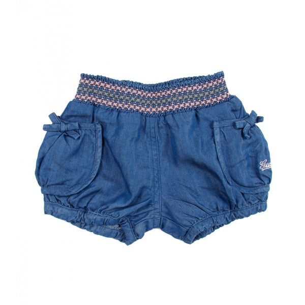 Blue denim 'look' lyocell Gucci baby shorts