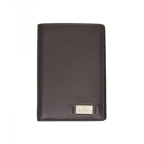 Brown calf leather wallet