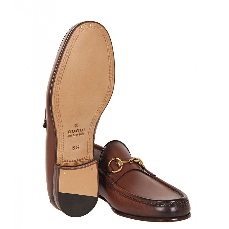 ee457186956 Brown leather 1953 horsebit loafers - Profile Fashion