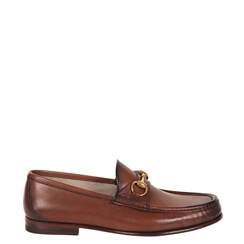 Brown leather 1953 horsebit loafers