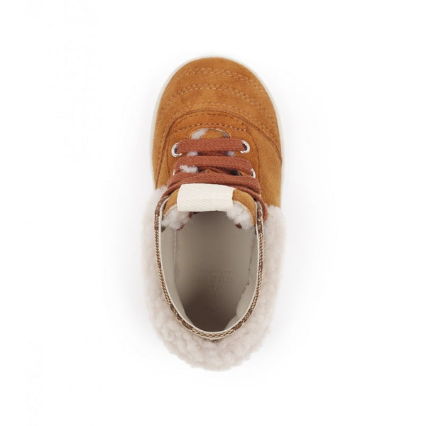 Brown shearling sneaker