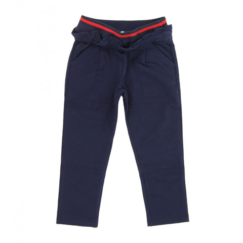 Dark blue stretch cotton jogging pant