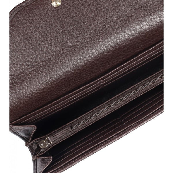 Dark brown leather dressage wallet