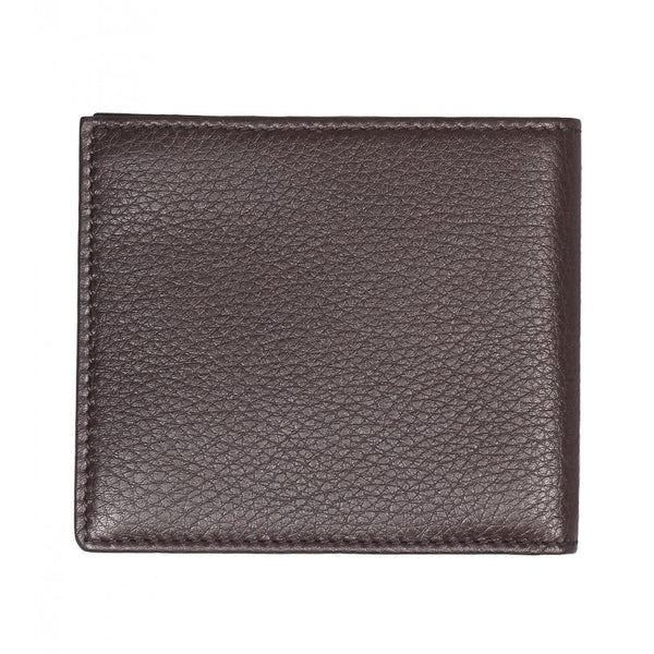 Dark brown leather soho bi-fold wallet