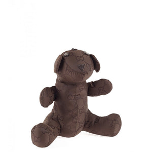 Dark brown nylon Teddy Bear bag