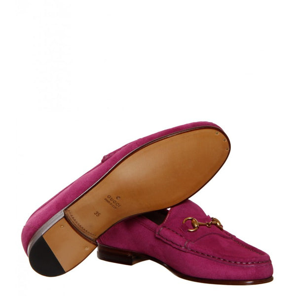 Deep pink suede anniversary 1953 loafers