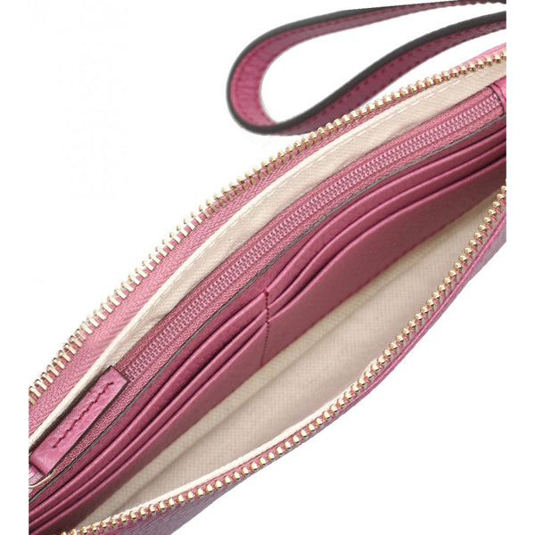Dusty rose Swing leather wristlet